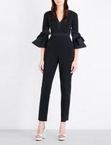 Roksanda Bell-sleeve crepe jumpsuit