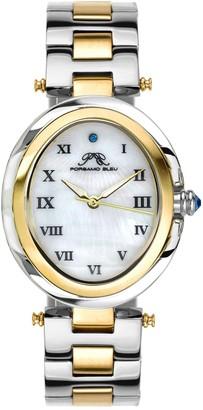 Women's South Sea Swarovski Crystal Two-Tone Bracelet Watch, 30.75mm