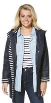 F&F Striped Trim Shower Resistant Hooded Mac, Women's
