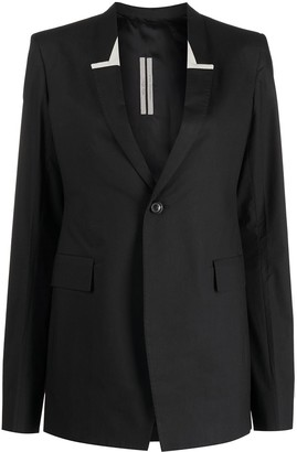 Rick Owens Single-Breasted Tailored Blazer