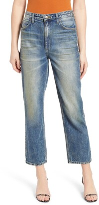 Lee High Waist Ankle Straight Leg Jeans