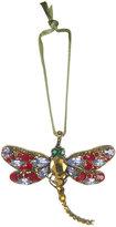 Joanna Buchanan Dragonfly Christmas Tree Decoration - Ruby/Amethyst
