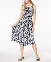 Maison Jules Smocked Midi Dress, Created for Macy's