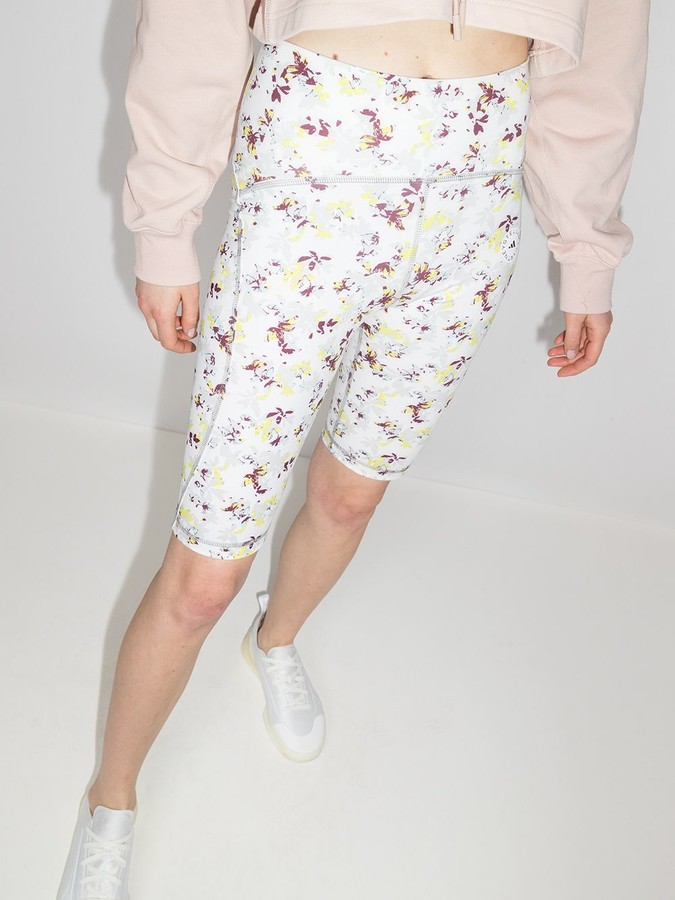 Thumbnail for your product : adidas by Stella McCartney TruePurpose floral-print cycling shorts