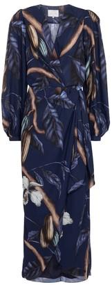 Johanna Ortiz Reino Vegetal wrap maxi dress