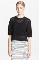 lea michele  Who made  Lea Micheles black short sleeve dress?