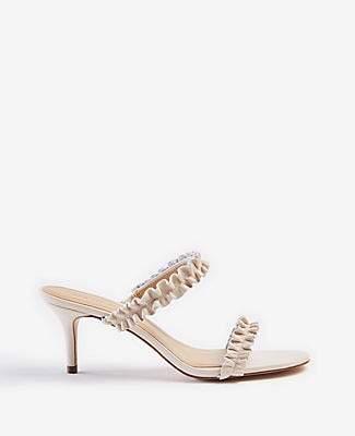 Ann Taylor Joanne Ruffle Heeled Sandals