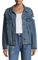 KENDALL + KYLIE Reconstructed Cotton Jacket