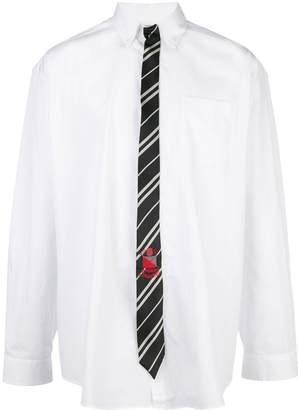 Vetements tie long sleeve shirt