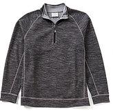 Tommy Bahama Reversible Slubtropic Zip-Mock Pullover