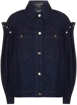 Mother of Pearl Brennon Frill Shoulder Denim Jacket