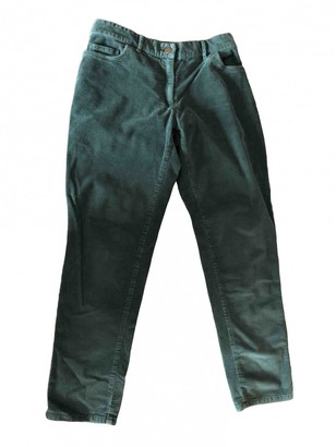 Hatch Green Cotton Trousers for Women