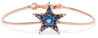 Selim Mouzannar Istanbul 18-karat Rose Gold, Diamond, And Sapphire Bracelet - one size