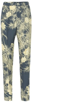 Dries Van Noten Floral high-rise crApe pants