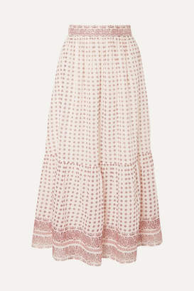 Vanessa Bruno Luciole Paisley-print Cotton Maxi Skirt - Red