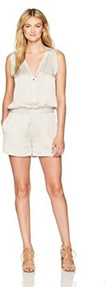 BCBGMAXAZRIA Women's Mikah V-Neck Sleeveless Woven Sportswear Romper