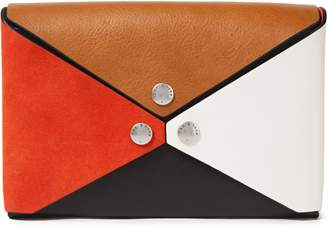 Rag & Bone Studded Color-block Leather Clutch