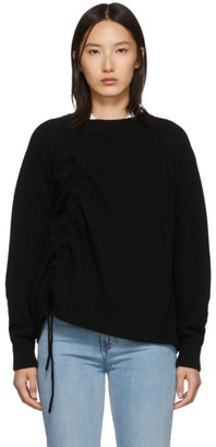 McQ Black Drawstring Jumper