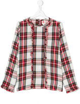 American Outfitters Kids plaid shirt with ruffles
