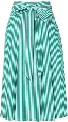 PortsPURE Pinstripe Print High Waist Skirt