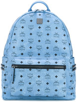MCM logo print studded backpack - women - Calf Leather - One Size