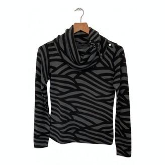 N. \n Grey Wool Top for Women