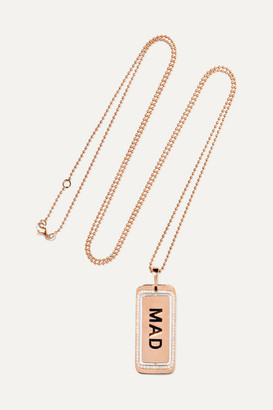 Diane Kordas Genius Mad 18-karat Rose Gold Diamond Necklace