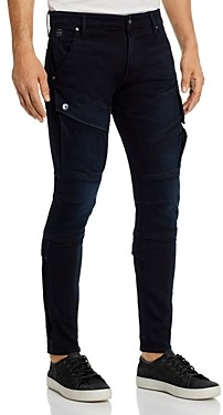 G Star Airblaze 3-d Skinny Fit Jeans in Worn In Blue Storm
