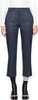 Thom Browne Navy Cropped Beltloop Trousers