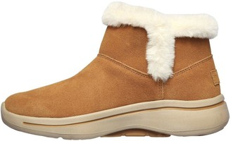 Skechers GOwalk Arch Fit Faux Fur Ankle Boot - Chestnut