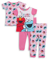 AME Sleepwear Little Girls Four-Piece Pajama Set