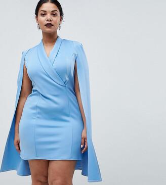 Club L Plus Cape Blazer Midi Dress