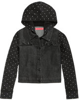 Tinsey Polka Dot-Print & Denim Jacket, Big Girls (7-16)