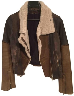 Sylvie Schimmel Brown Leather Leather Jacket for Women