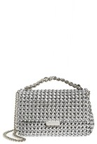 Stella McCartney Small Woven Faux Leather Shoulder Bag - Metallic