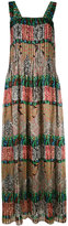 Oscar de la Renta multi-print maxi dress