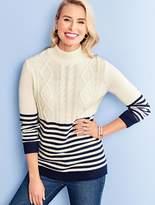 Talbots Fisherman Stripe Sweater