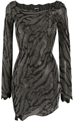 Just Cavalli Fitted Animal Print Dress
