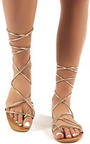 Public Desire Sunset Strappy Lace Up Flat Sandals