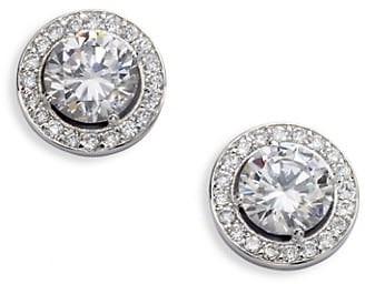Adriana Orsini Sterling Silver Round Framed Stud Earrings