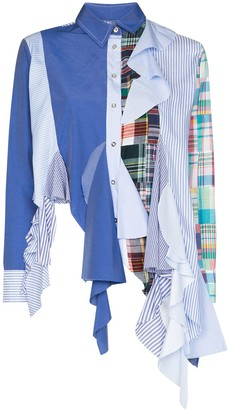 Marques Almeida reMAde panelled shirt