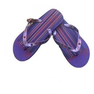 John Galliano Purple Plastic Sandals