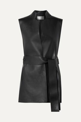The Row Frieden Leather Vest - Black