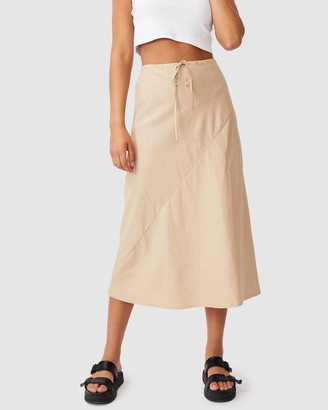Cotton On Women's Nude Midi Skirts - Sunset Lover Midi Skirt - Size S at The Iconic