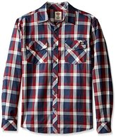 Dickies Men's Regular Fit Long Sleeve Herringbone Plaid Shirt