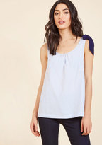 ModCloth Polished and Playful Sleeveless Top in 1X