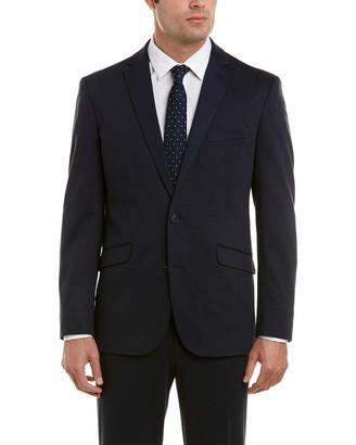 Kenneth Cole Reaction Men's Knit Slim Fit Suit with Hemmed Pant