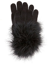 Kate Spade Feather Marabou Pom Gloves