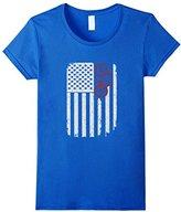 Bicycle Cycling Mountain Bike USA America Flag T-Shirt