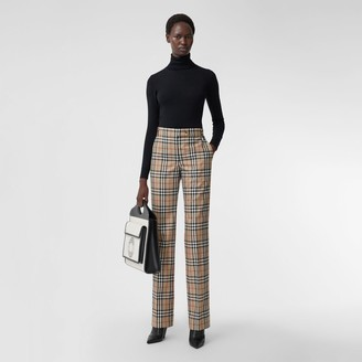 Burberry Vintage Check Wool Tailored Trousers